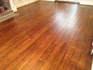 Wood Floorboard Sanding and Sealed