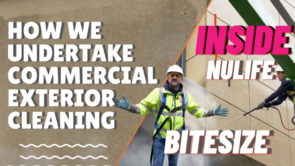 How we undertake commercial exterior cleaning